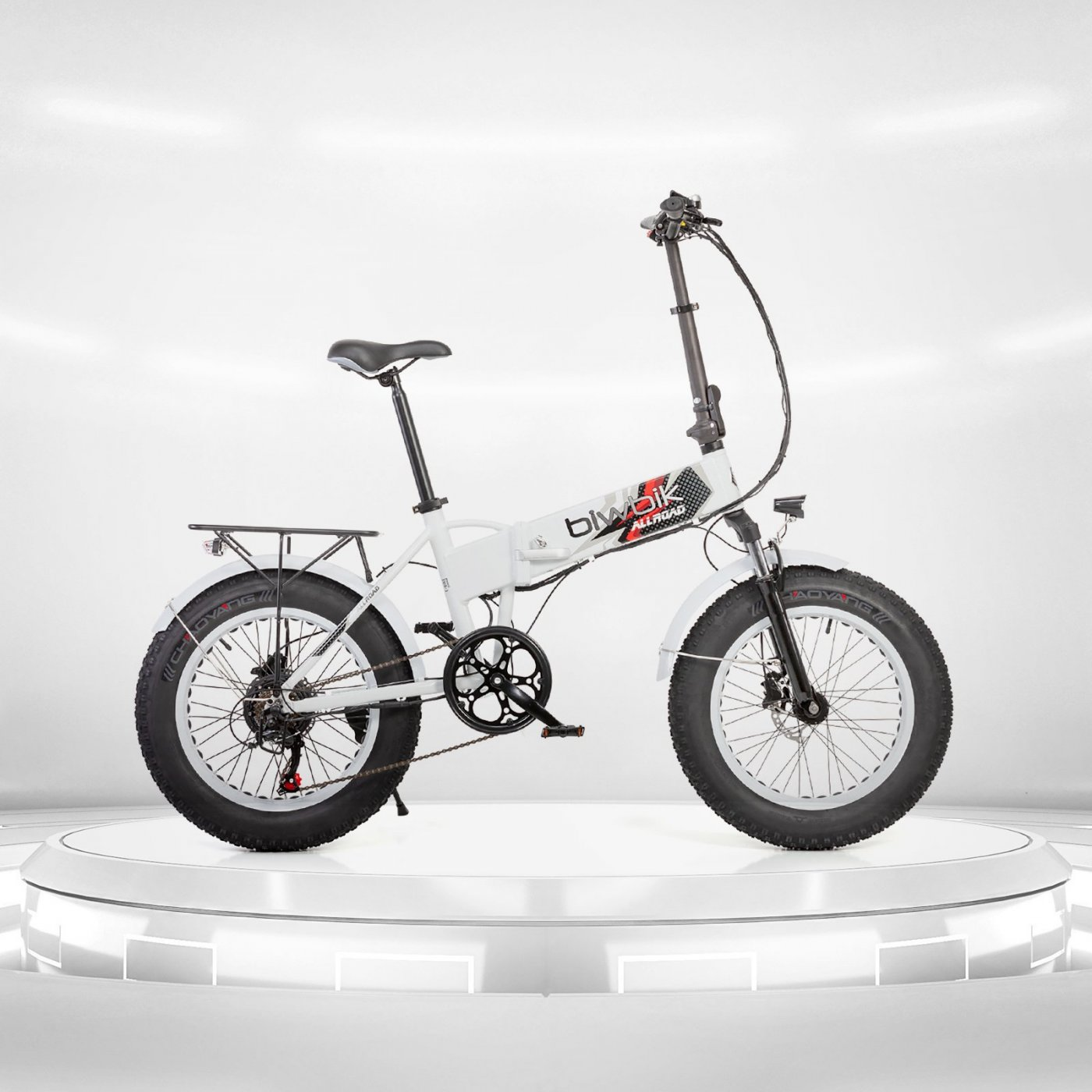 Biwbik All Road white folding electric bike