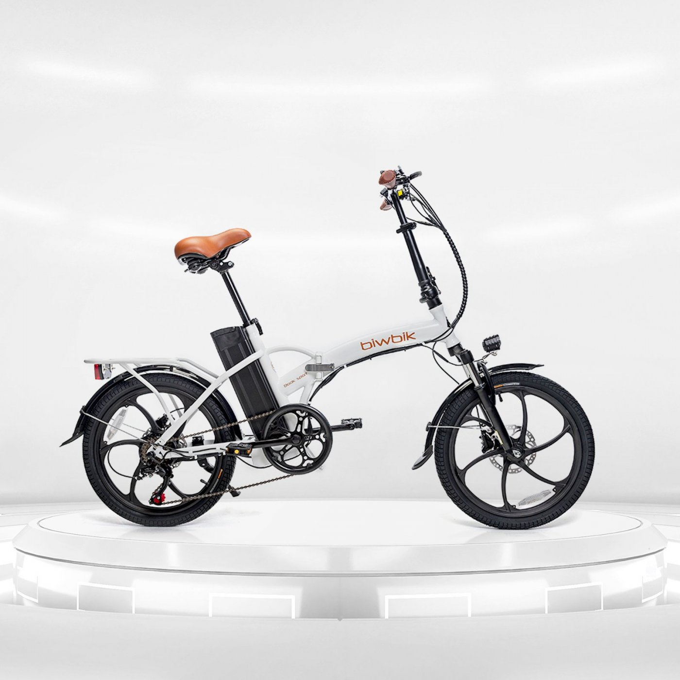 Folding electric bike Biwbik Book Sport white