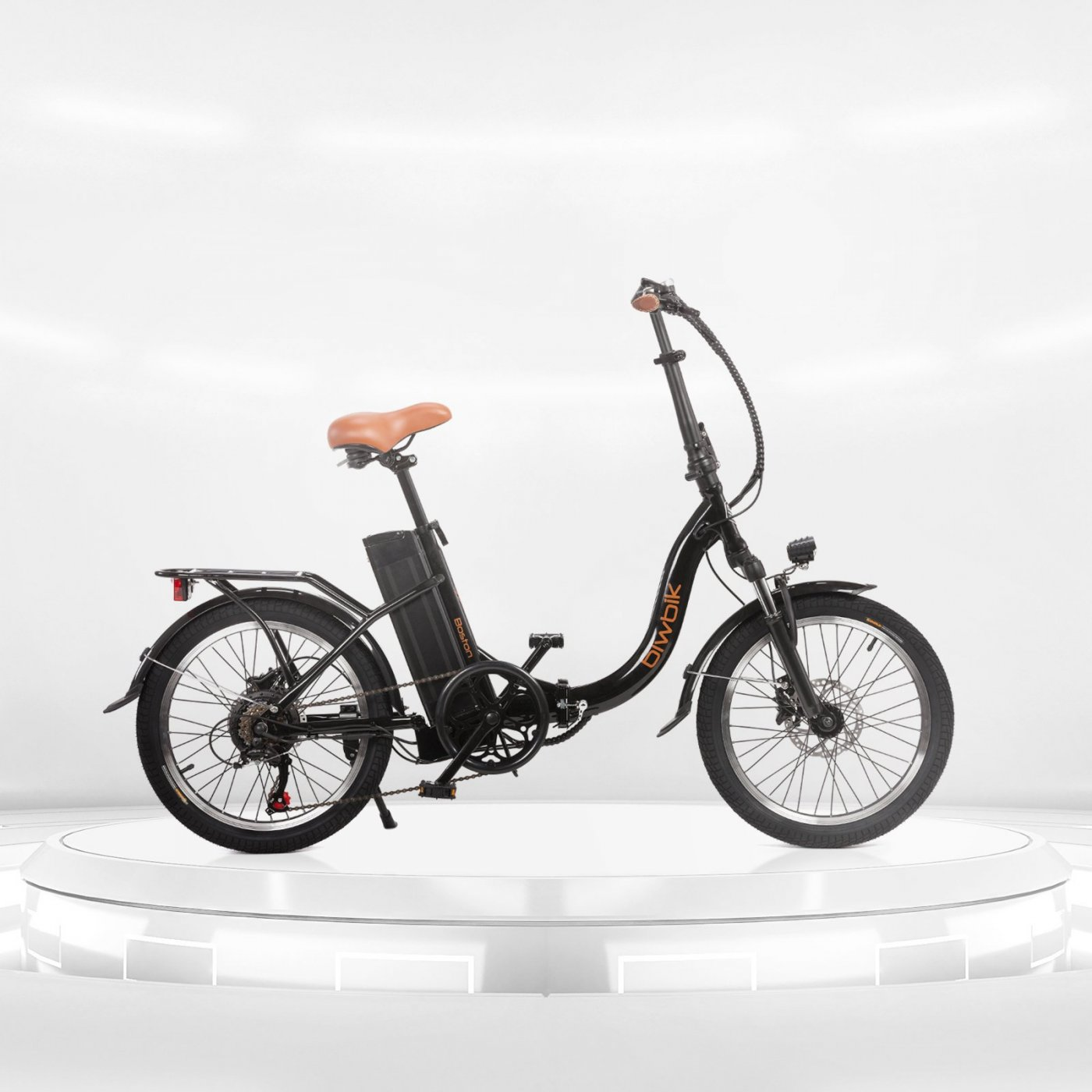 Boston black folding electric bike