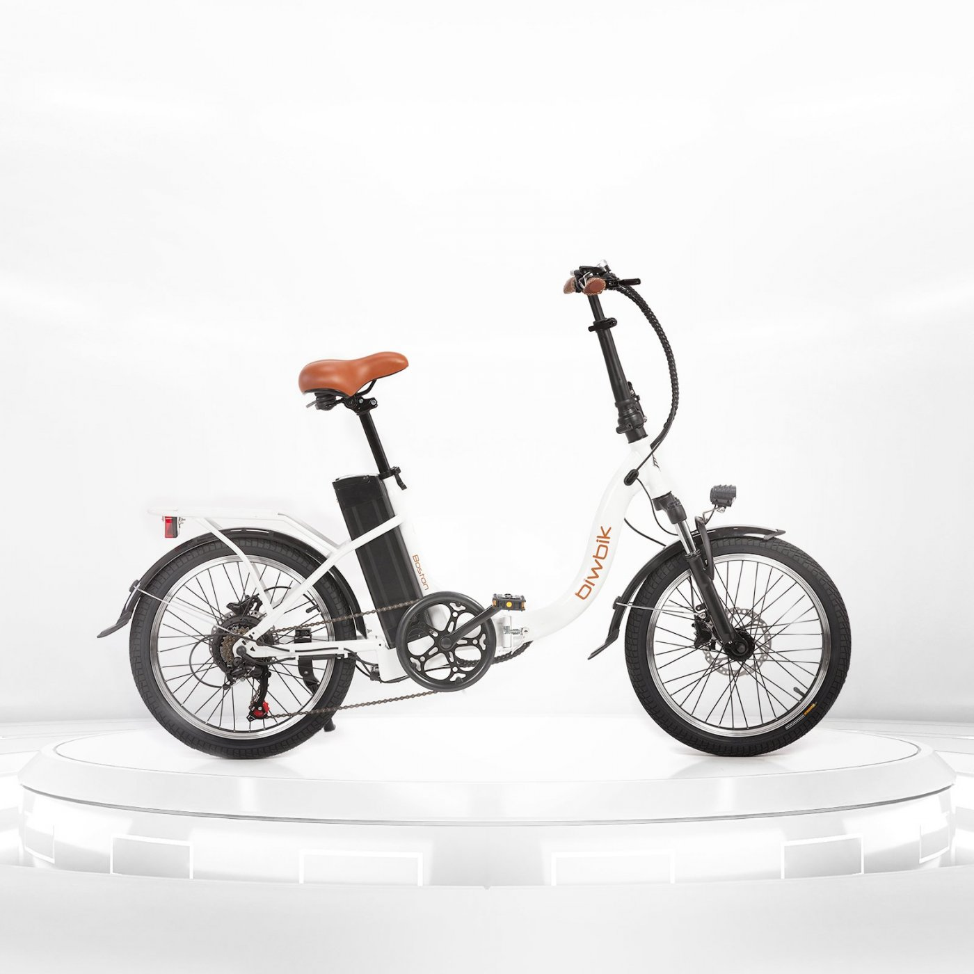 Boston white folding electric bike