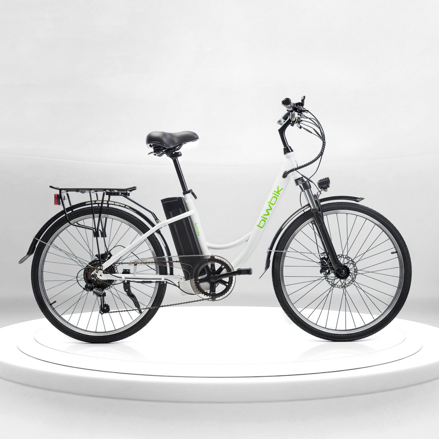 Biwbik Sunray white electric touring bike