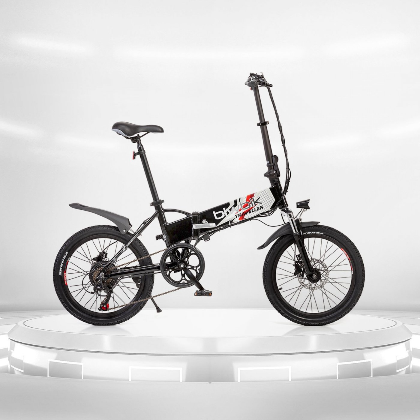 Biwbik Traveller black folding electric bike