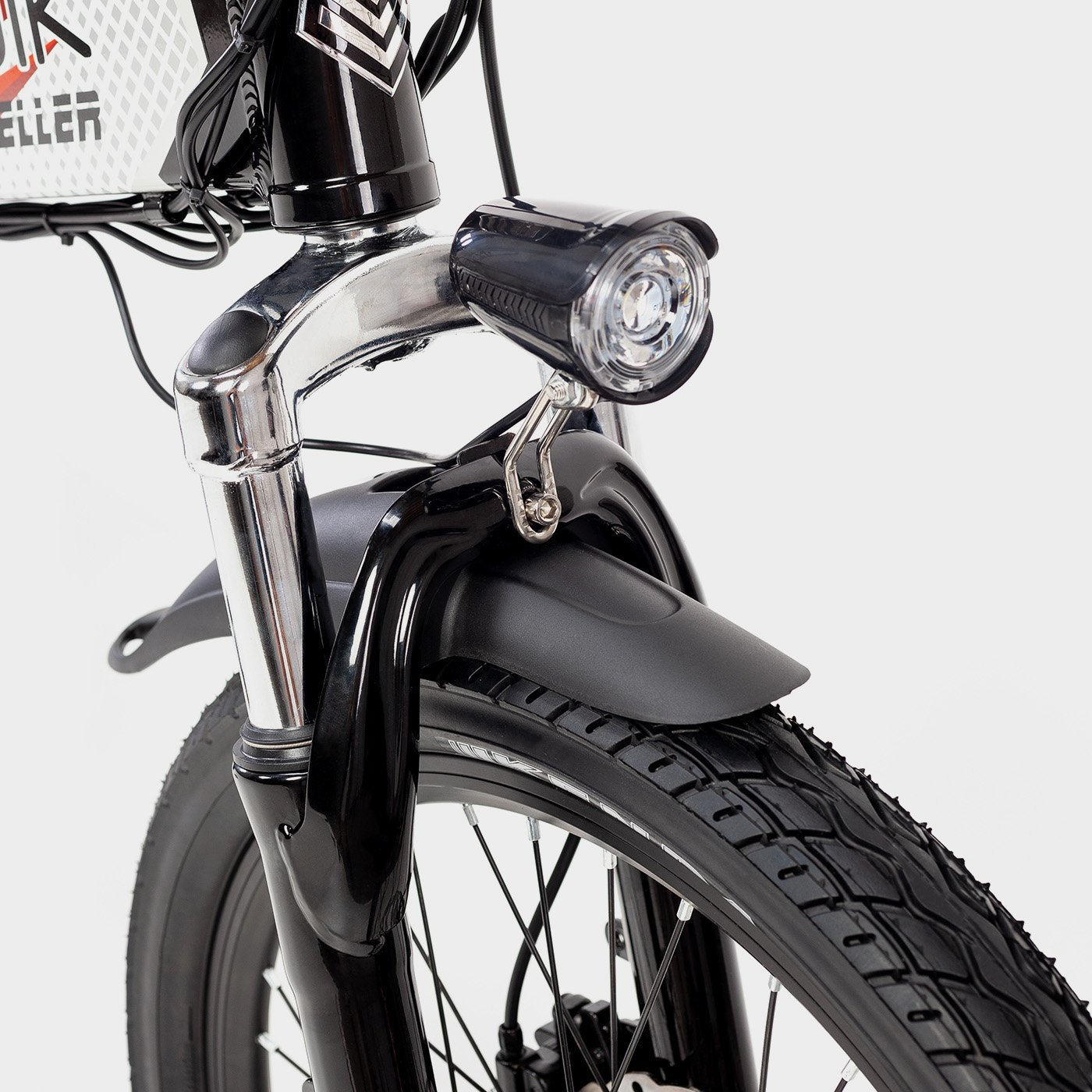 Bicicleta eléctrica plegable Biwbik Traveller black