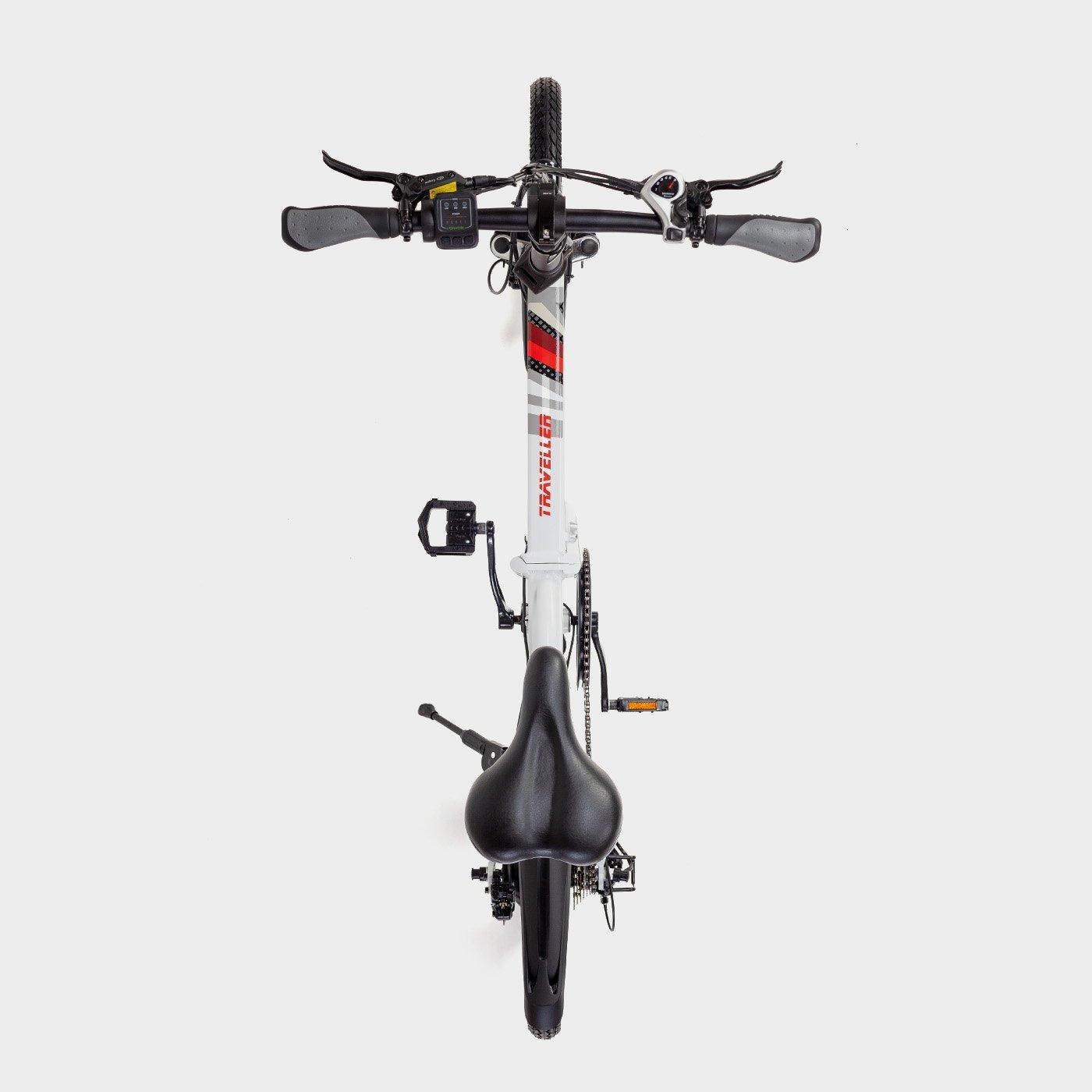 Bicicleta eléctrica plegable Biwbik Traveller white
