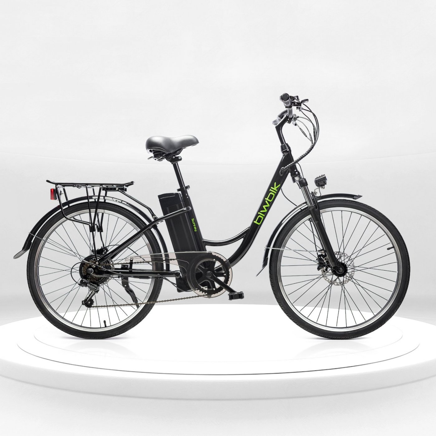 Biwbik Sunray black electric touring bike