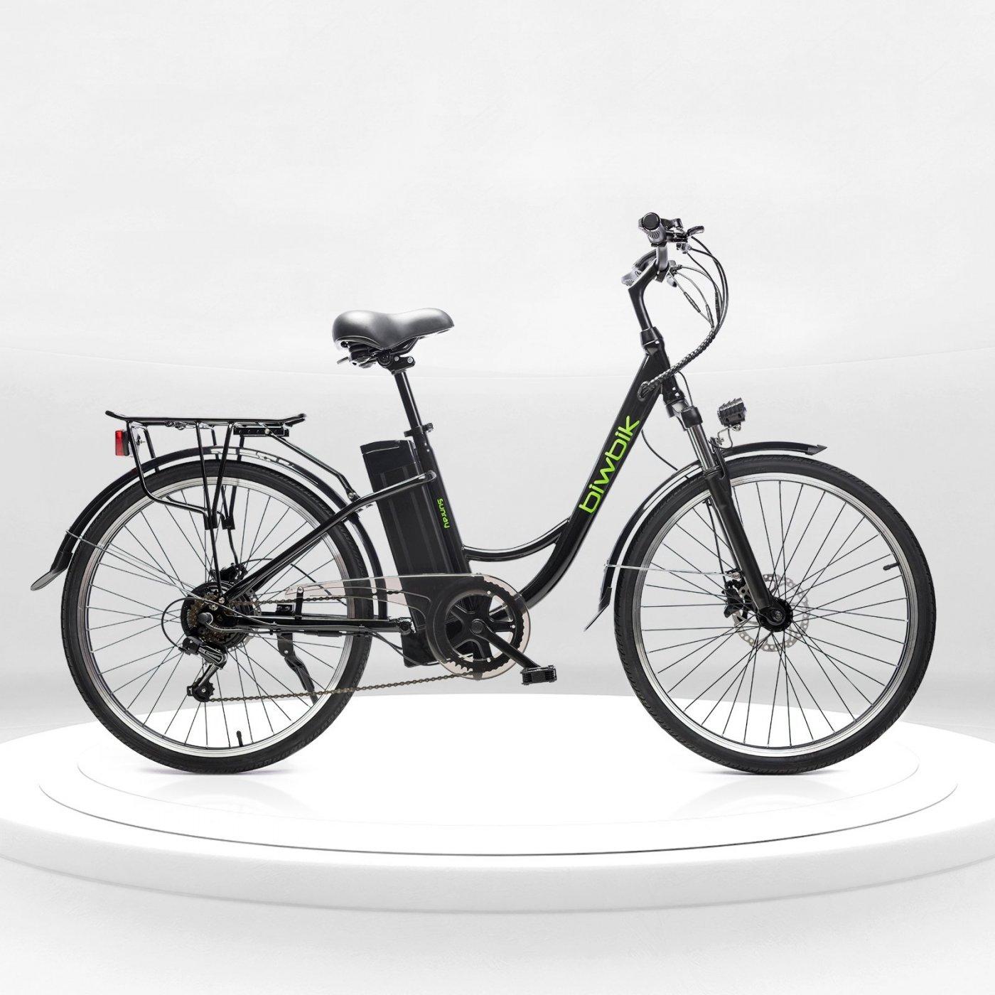 Biwbik Sunray black electric touring bike