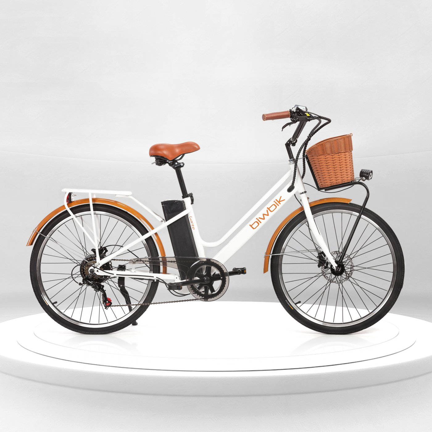Electric city bike Gante white