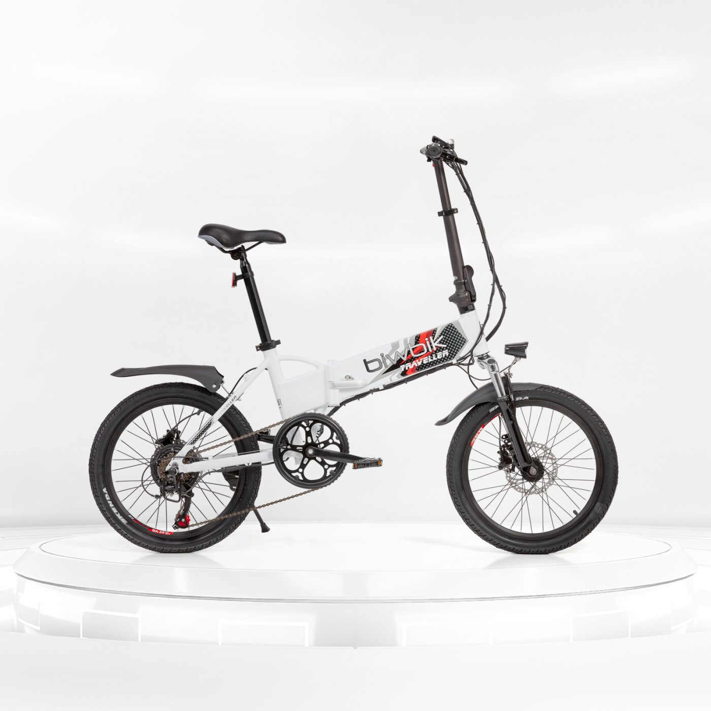 Biwbik Traveller white folding electric bike